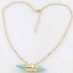"""Jewelry - """"Lady Luck"""" Double Point Howlite Necklace"""